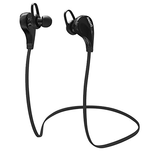 bluetooth headphones ankovo wireless sport headsets stereo sweatproof in ear noise cancelling. Black Bedroom Furniture Sets. Home Design Ideas