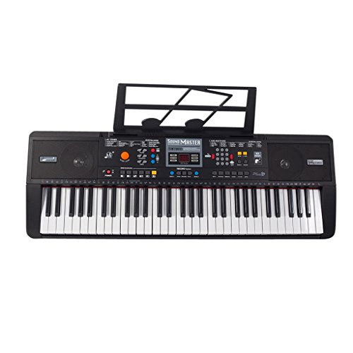plixio 61 key full size electronic music keyboard electric piano with usb mp3 input qwille. Black Bedroom Furniture Sets. Home Design Ideas